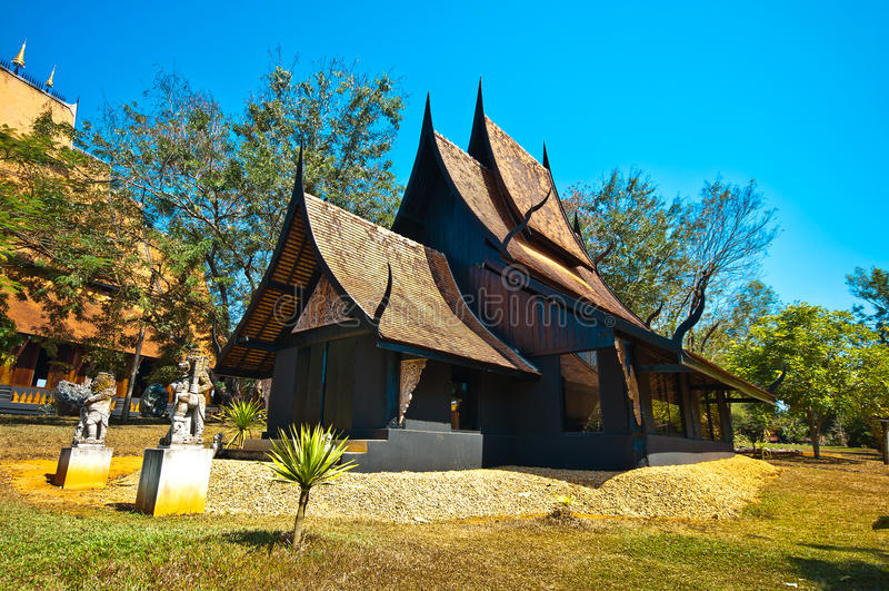兰纳古老建筑学传统北泰国样式 库存图片