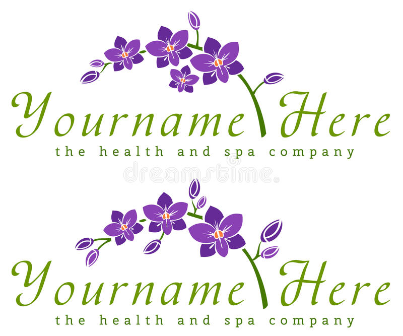 Download 兰花商标模板 向量例证. 插画 包括有 beauvoir, 按摩脊柱治疗者, 关心, 健康, 女性, 权威 - 62532881