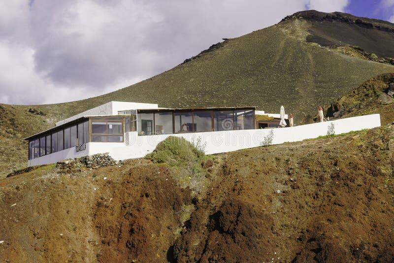 兰萨罗特岛横向 免版税库存照片
