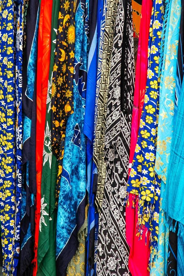 兰萨罗特岛,金丝雀ISLANDS/SPAIN - 7月31日:多彩多姿的丝绸s 免版税图库摄影