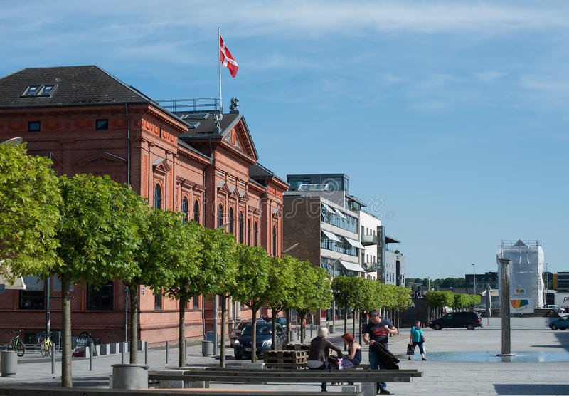 兰讷斯,丹麦 免版税库存图片