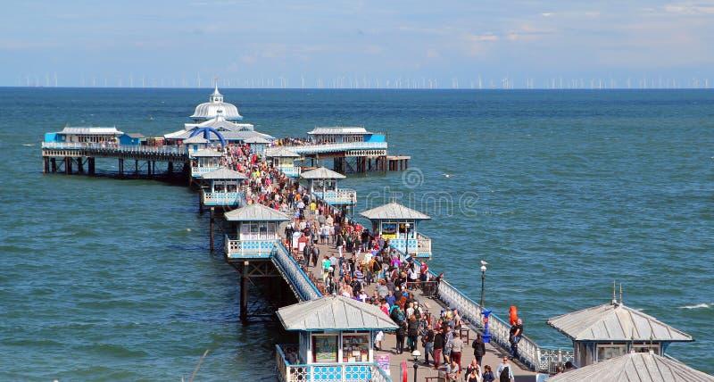 兰迪德诺繁忙的码头 免版税库存照片