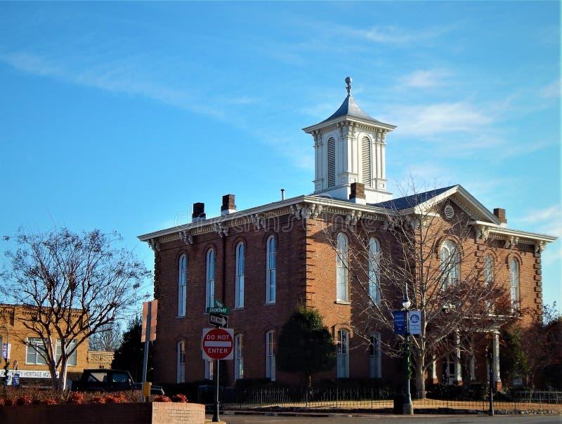 兰道夫县法院大楼宝嘉康蒂阿肯色 图库摄影