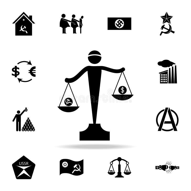 共产主义和资本主义象标度  详细的套共产主义和社会主义象 优质图形设计 一  向量例证