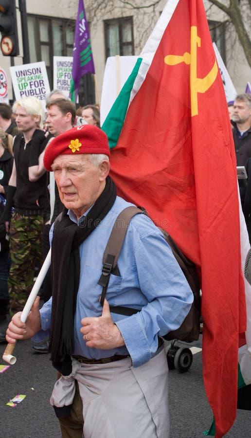 共产主义行军者 免版税图库摄影