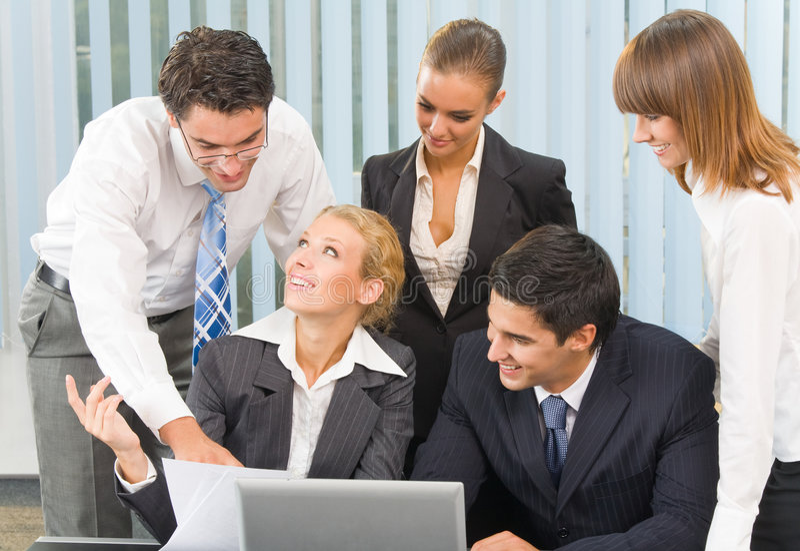 共同努力企业的小组 库存图片