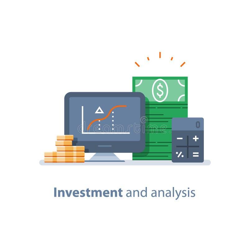 共同基金、信任管理、投资策略、财务分析、套利基金、股市和交换 库存例证