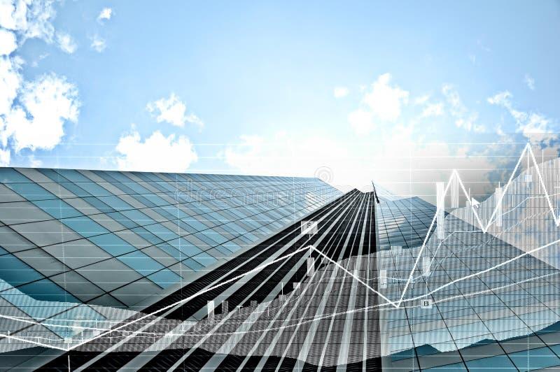 共同的现代企业摩天大楼,高层建筑物, archite 免版税库存图片