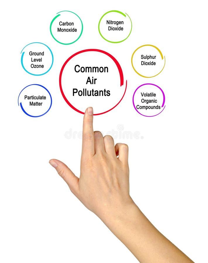 共同的空气污染物 免版税库存图片