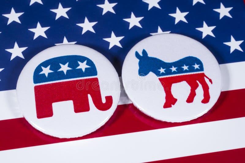 共和党人和民主党 免版税库存照片