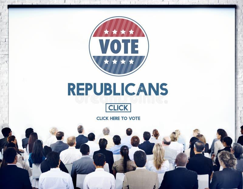 共和党民主党竞选小组总统Concept 库存照片