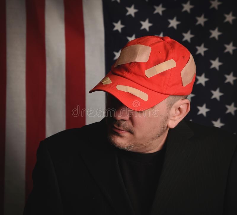 共和党竞选选民红帽公司 免版税库存图片