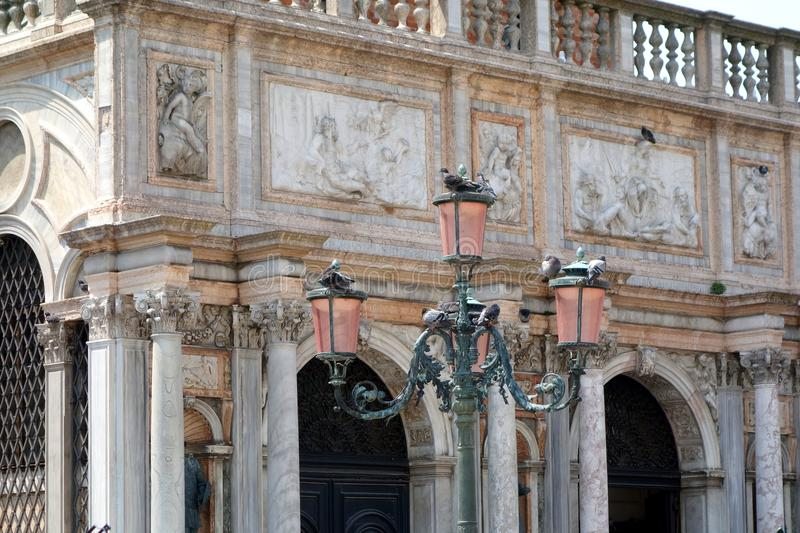 共和国总督的宫殿,威尼斯,威尼托,意大利 免版税库存图片