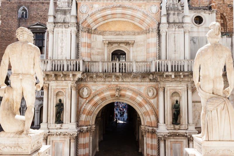 共和国总督` s宫殿palazzo Ducale 免版税库存图片