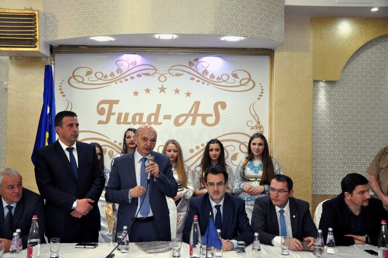 共和国科索沃, Isa穆斯塔法的总理在普里兹伦 库存图片