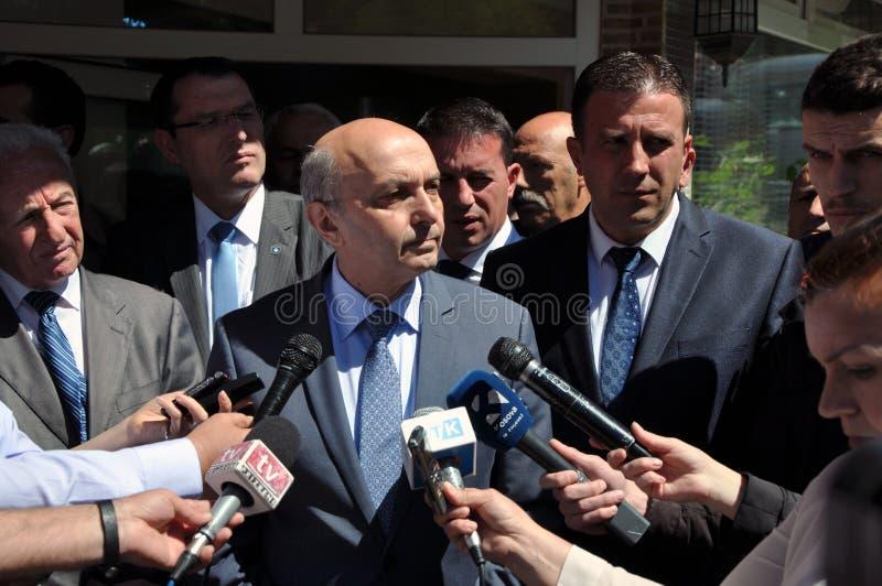 共和国科索沃, Isa穆斯塔法的总理 库存照片