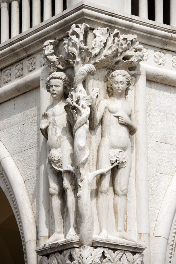 共和国总督宫殿的细节-威尼斯意大利 库存照片