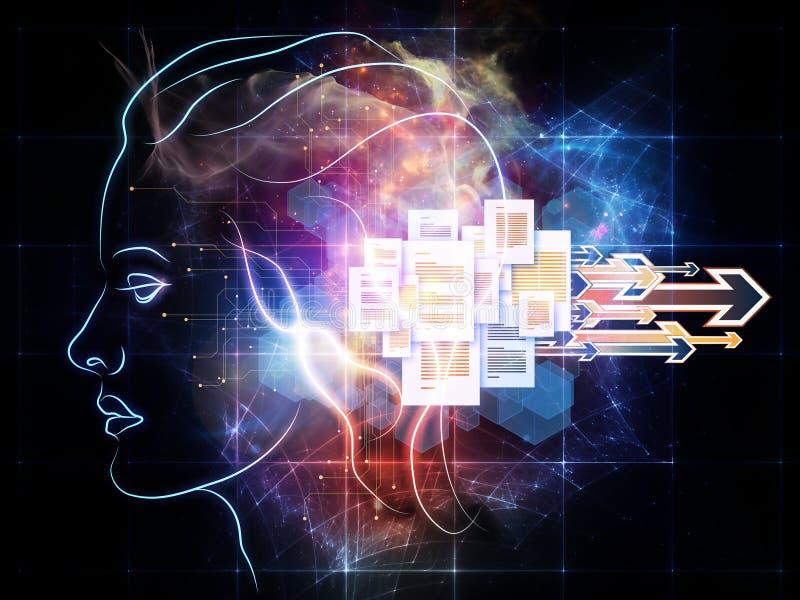 知觉光  库存例证