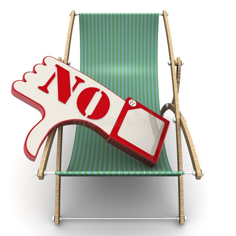 关于休息概念的否定的评审 库存例证
