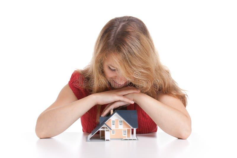 关于房子的梦想 免版税库存照片