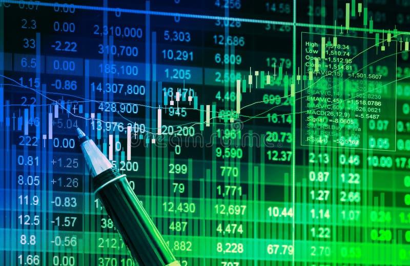 关于显示器的财务数据,关于LED显示的股市数据精读 库存照片