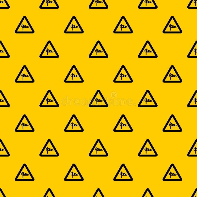 关于横风的标志警告从左样式传染媒介 库存例证