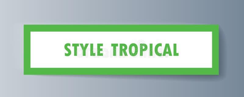 关于热带动物和植物群的小册子信息 库存例证