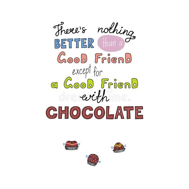 关于甜点的滑稽的字法行情 向量例证