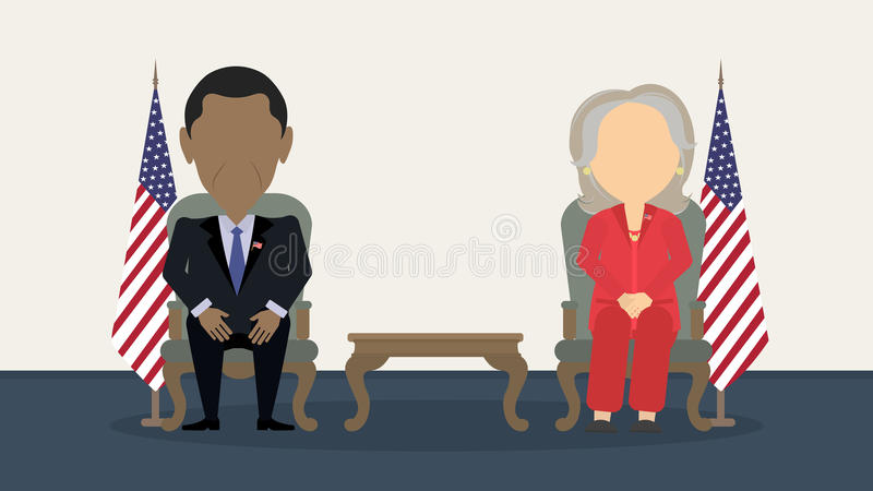关于竞选的辩论 向量例证