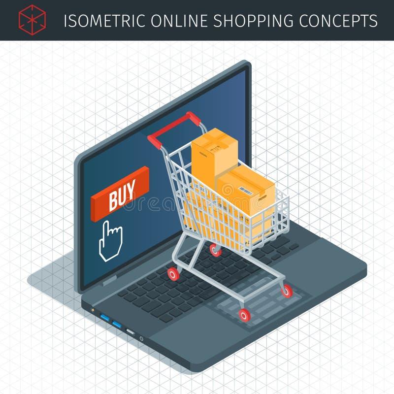 关于网上购物的概念 皇族释放例证