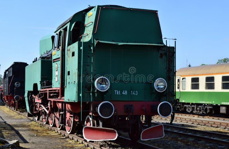 关于蒸汽机车的每年游行在沃尔什滕,波兰 免版税图库摄影