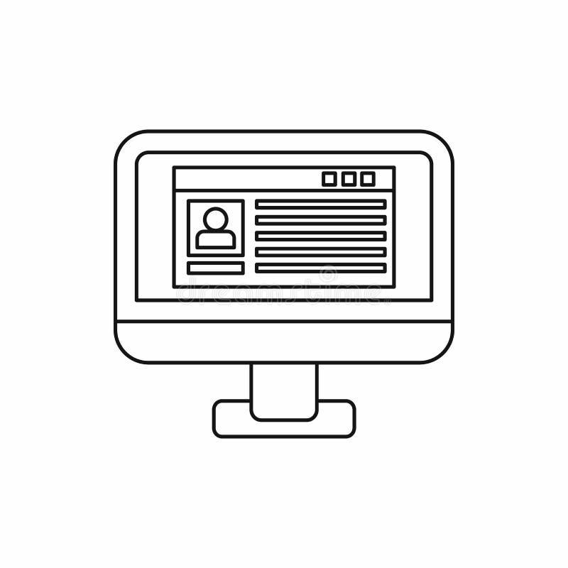 关于计算机显示器象的分布数据 皇族释放例证