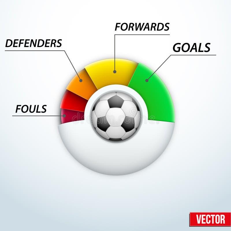 关于足球比赛的概念统计  向量例证