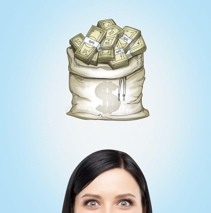 关于金钱的梦想 免版税库存照片