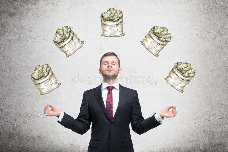 关于金钱的梦想 库存图片