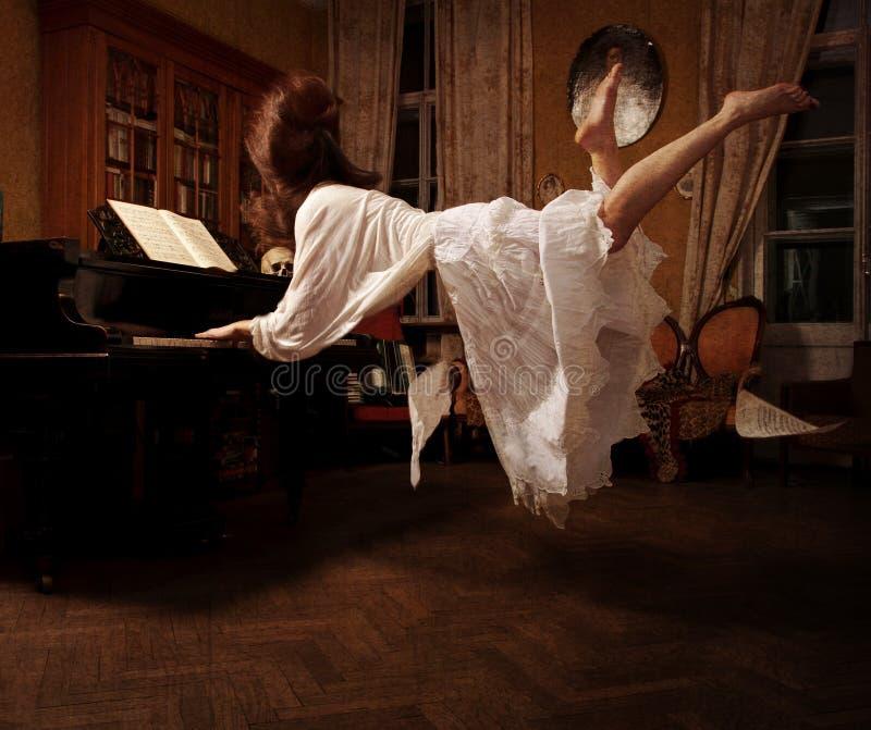 关于音乐的精神梦想 免版税库存图片