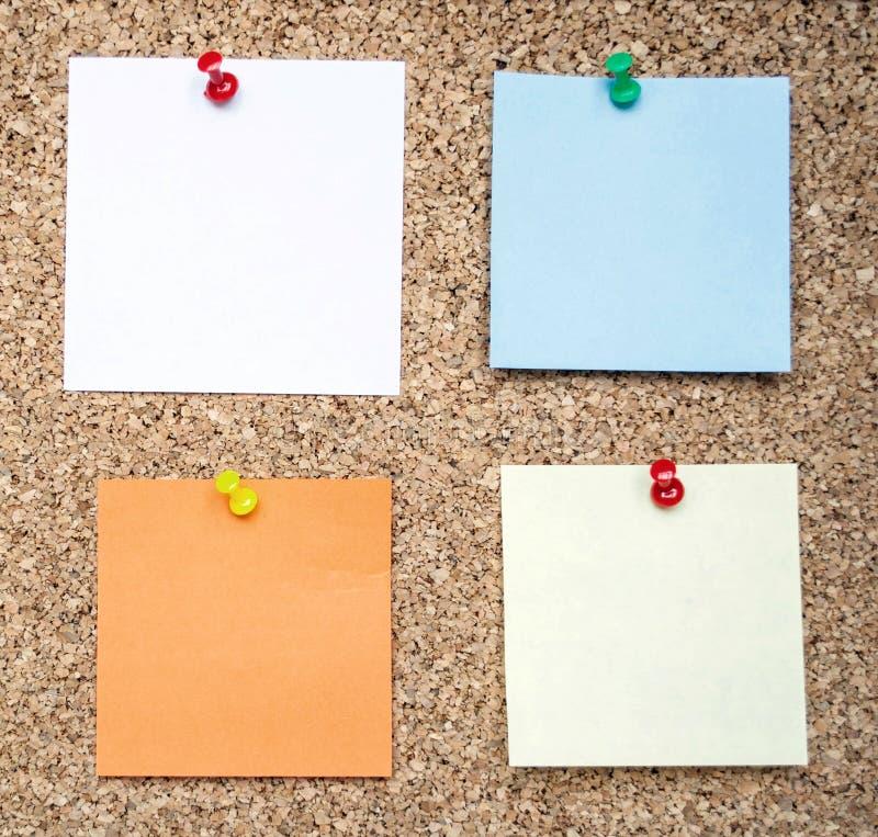 关于黄柏板的备忘录笔记 图库摄影