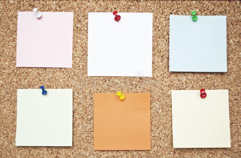 关于黄柏板的空白的备忘录笔记 图库摄影