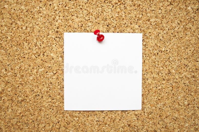 关于黄柏板的空的备忘录笔记 免版税库存照片