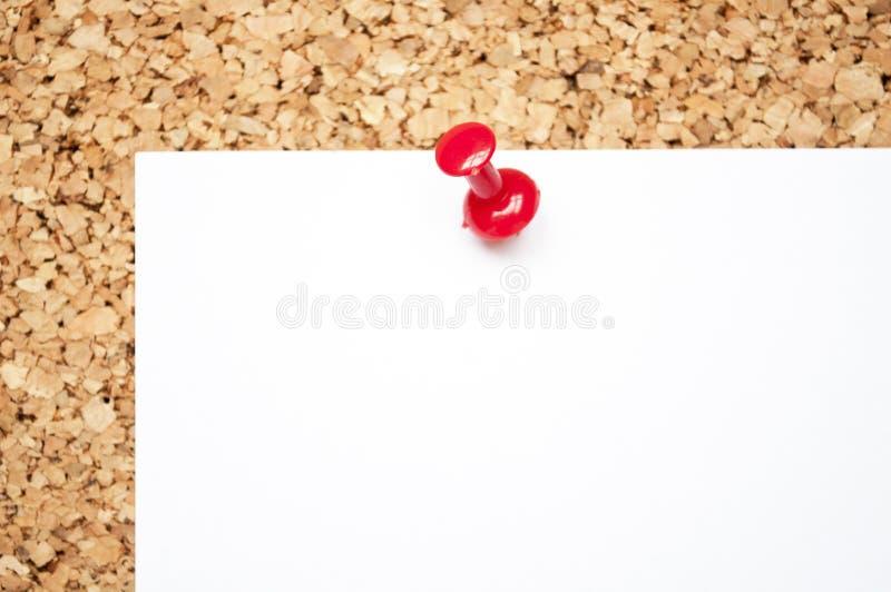 关于黄柏板的空的备忘录笔记 免版税库存图片