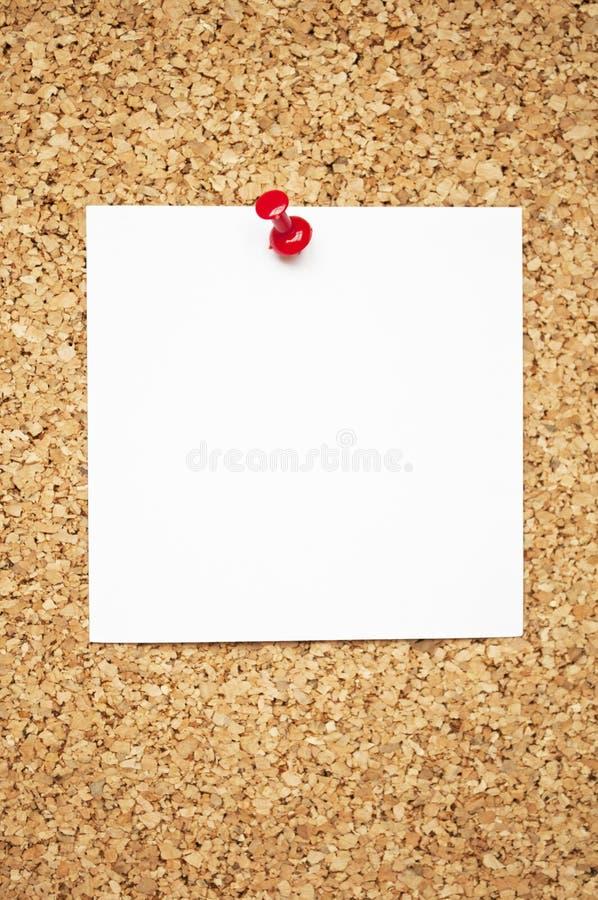 关于黄柏板的空的备忘录笔记 免版税图库摄影