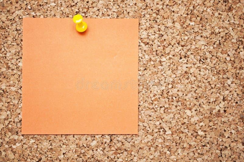 关于黄柏板的空的备忘录笔记 图库摄影