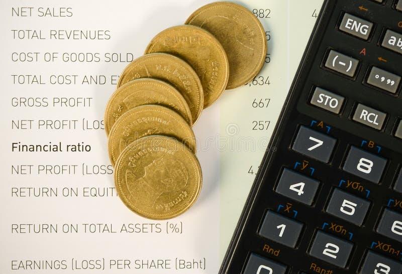 关于财产分派的投资数据 免版税图库摄影