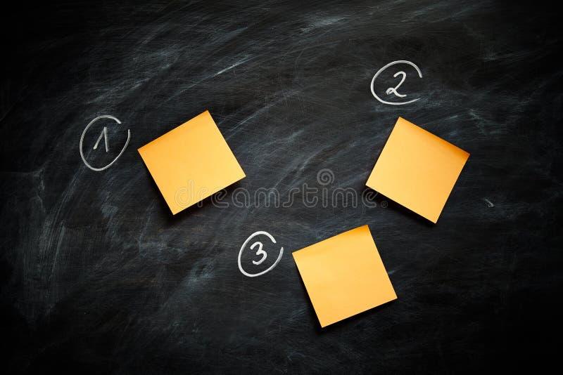 关于黑板的笔记 免版税库存照片