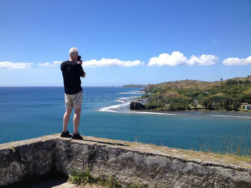 关岛海岸线 库存图片