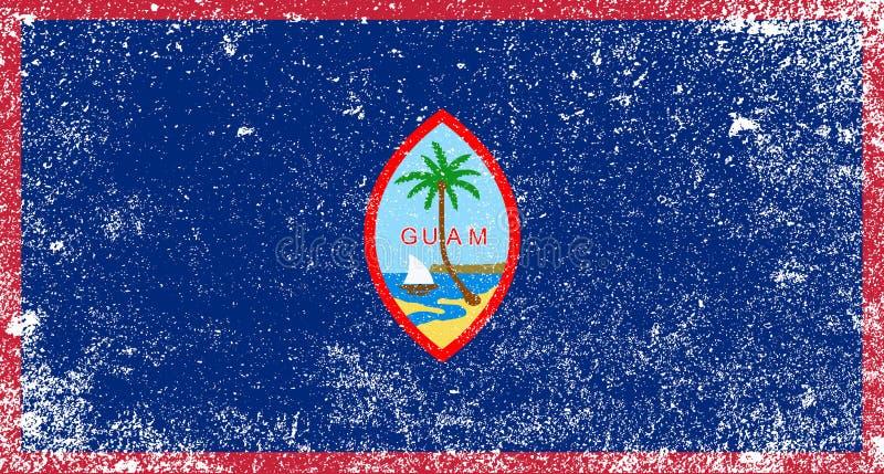 关岛的难看的东西旗子 皇族释放例证