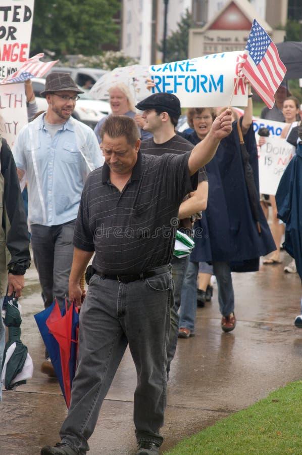 关心健康抗议者 库存照片