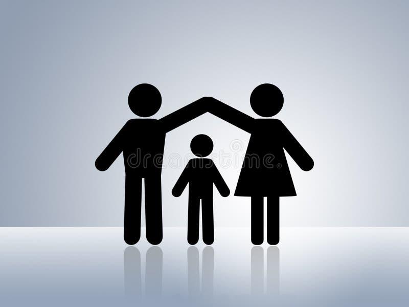 关心儿童家父母亲保护安全 皇族释放例证