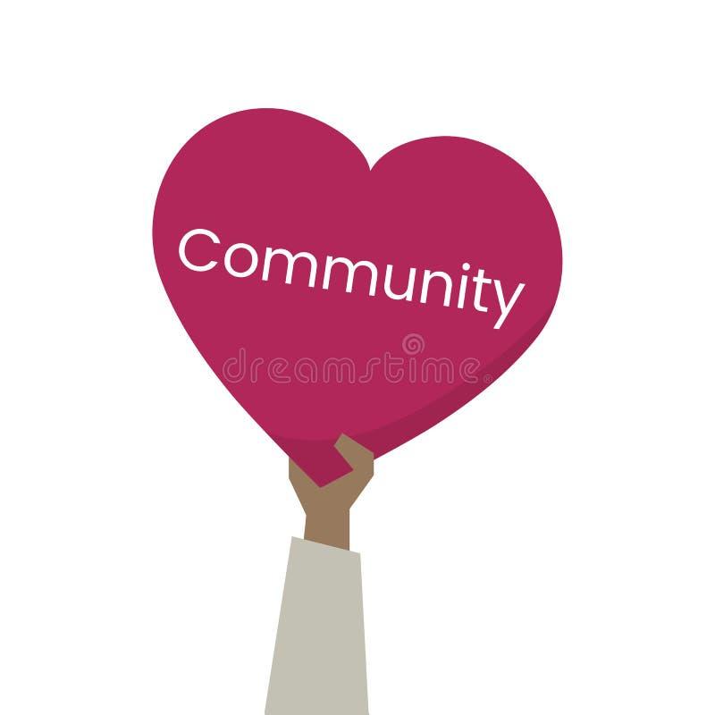 关心和社区的例证 库存例证