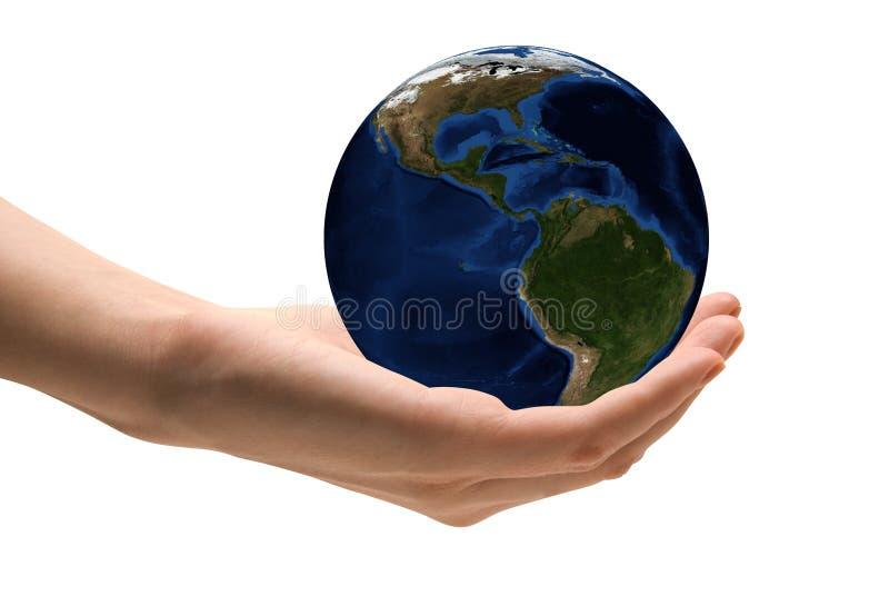 关心地球作为 库存照片